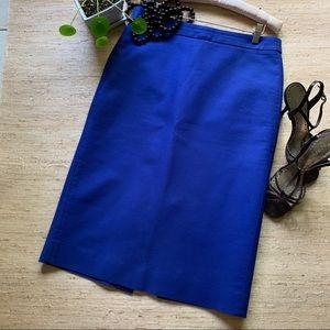J. Crew Electric Blue No. 2 Pencil Skirt - 10